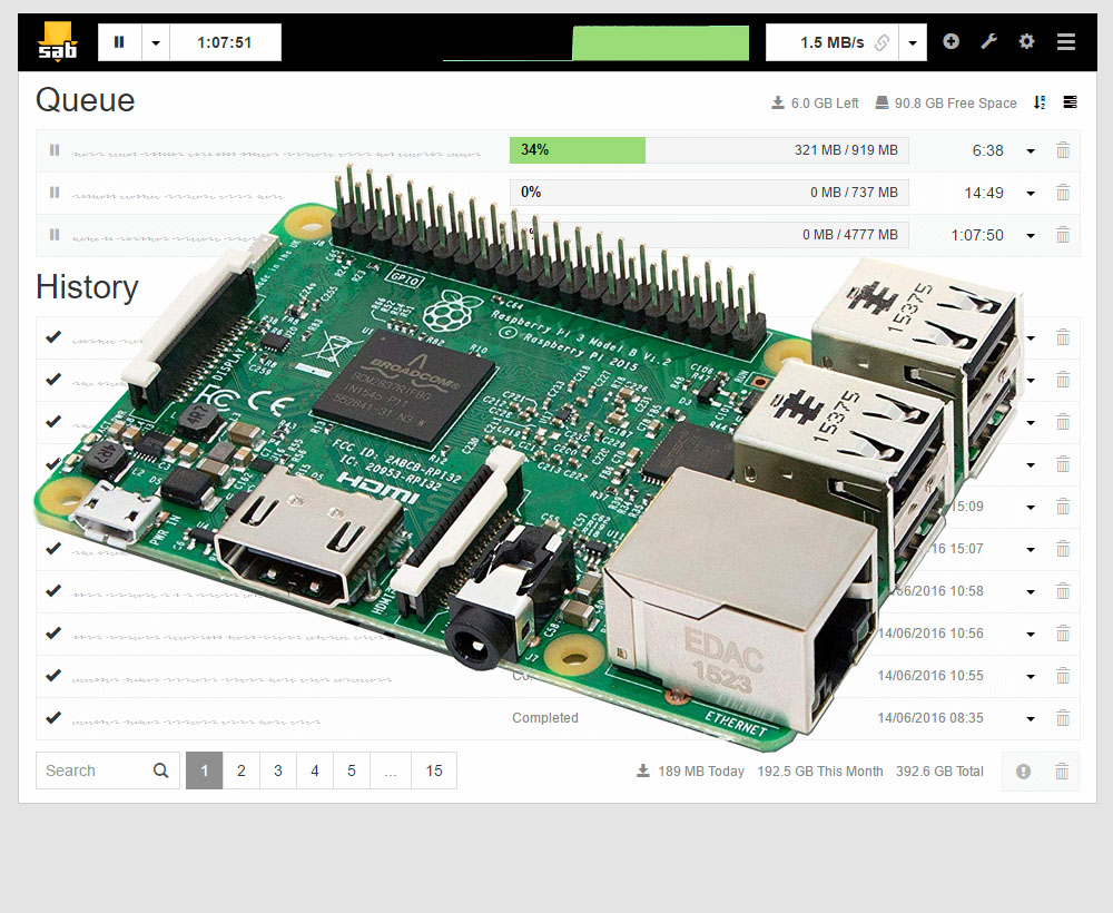 Raspberry pi 2 download speed